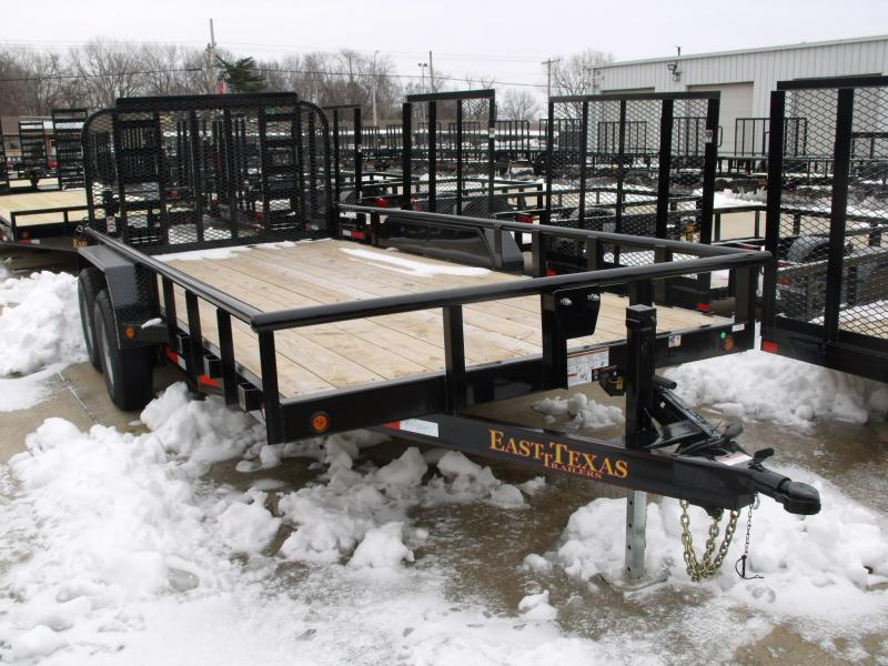 Utility Trailer 83 X 16 Pipe Rail 12000 GVW  Combo Ramp Gate