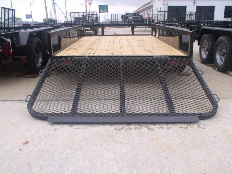 Equipment Trailer 77 X 12 Spring Assisted HD Gate