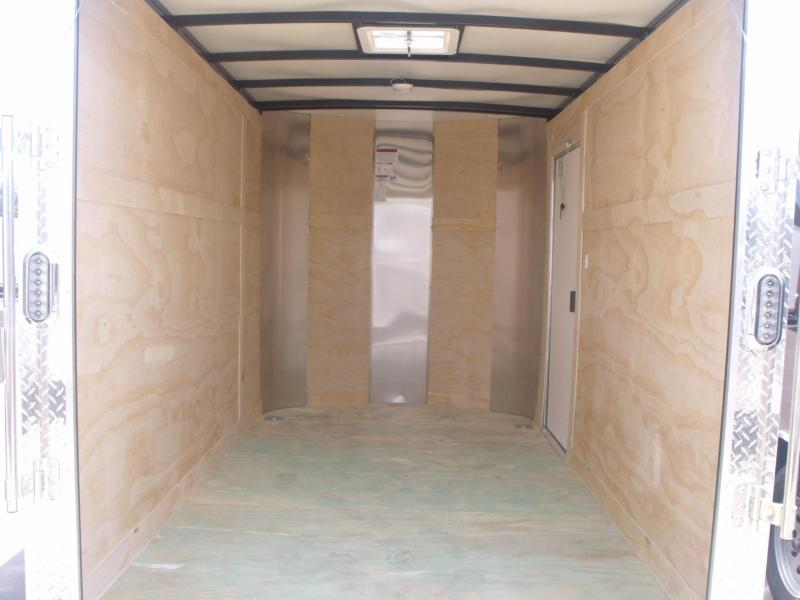 """Enclosed Trailer 6 X 10 Ramp 6' 3"""" Height Two Tone Charcoal/Black"""
