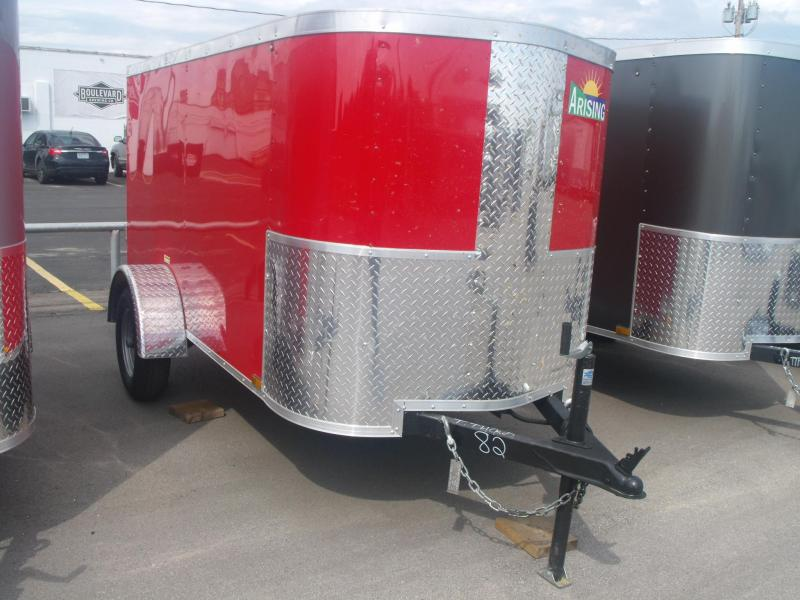 Enclosed Trailer 4 X 8 Barn Doors 2000# Axle RED IN COLOR