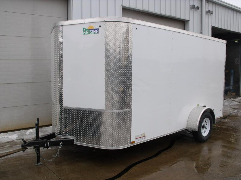 Enclosed Trailer 7 X 12 BARN DOORS ALL Tube Construction 2990 Axle