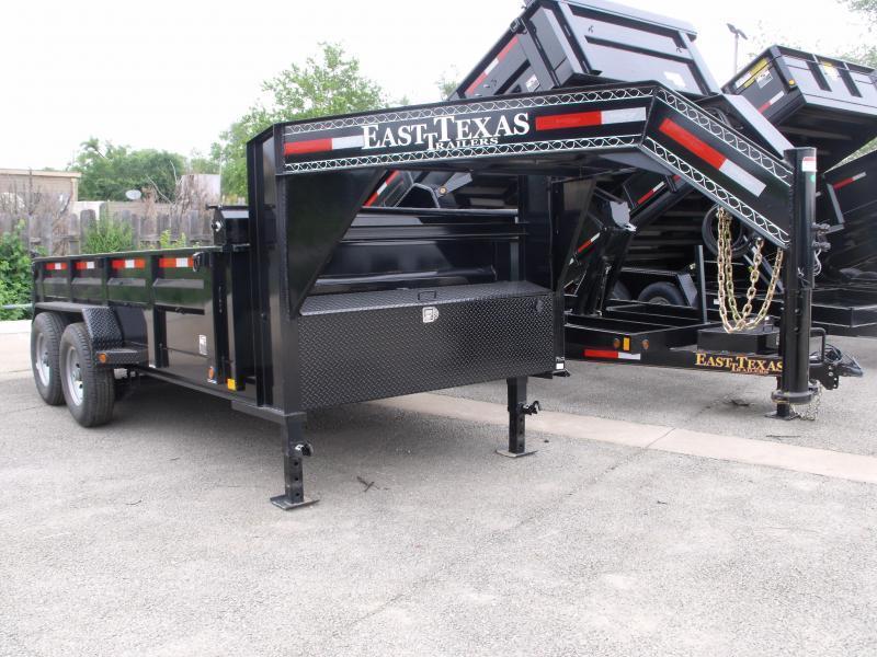 Dump Trailer  Gooseneck LOW PRO  83 X 14   14000 GVW  Tarp Included