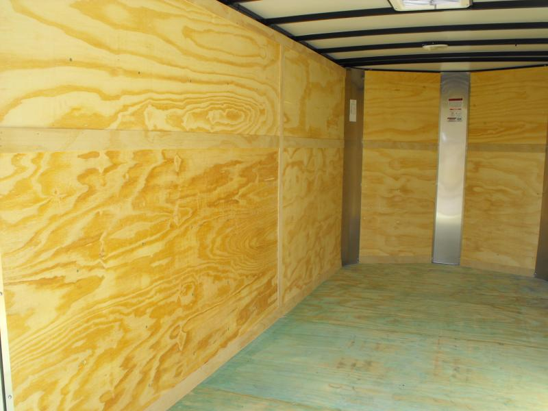 "Enclosed Trailer 7 X 14 Ramp 7000 GVW  6' 6"" Interior TWO TONE Silver/Charcoal ALL Tube Construction"