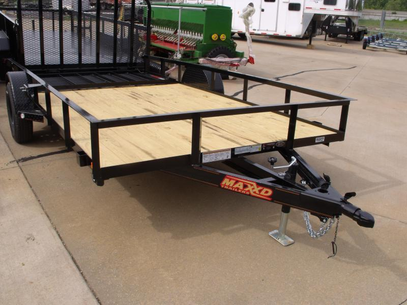 Utility Trailer  83 X 14  Front And Rear Folding Spring Assisted Gate 2990 Axle