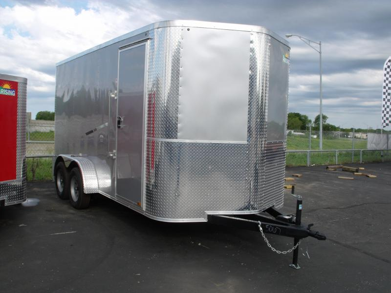 Enclosed Trailer 7 X 14 Ramp 7' Interior Height Silver Mist Color ALL Tube Construction