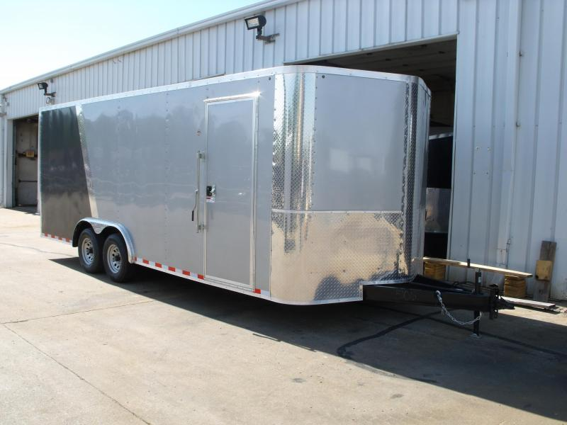 Enclosed Trailer 8.5 X 20 Ramp Dove Tail (( 7' Height))  Razor Trailer   10.400 GVW ALL Tube Construction Color Silver Mist/Med Charcoal