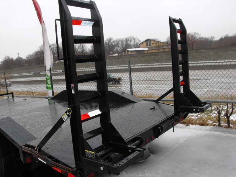 "Equipment Trailer 83 X 18 Steel Deck """" Drive Over Fenders""""  14000 GVW HD Boxed Ramps"