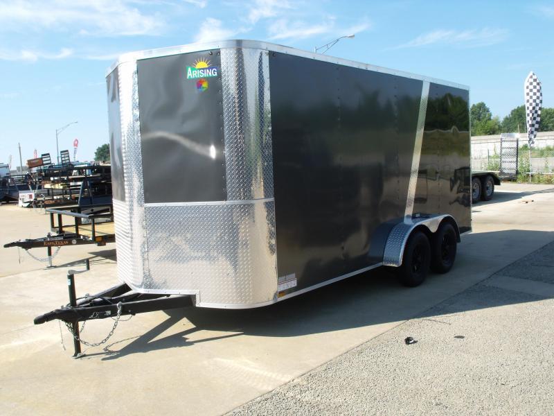Enclosed Trailer 7 X 16 Ramp 7' Interior Height   Medium Charcoal/ Black  In Color ALL Tube Construction in Ashburn, VA