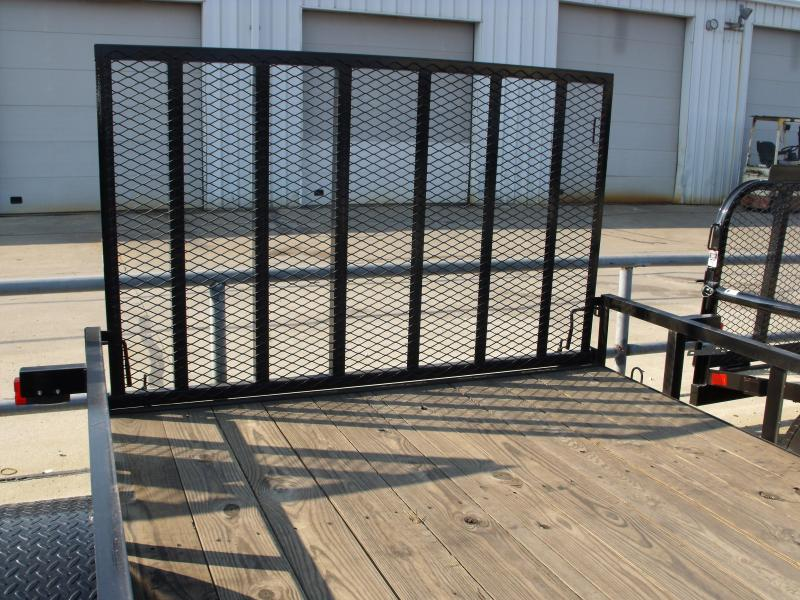 Mowing Trailer 83 X 12 Ramp Front And Rear Folding Gate