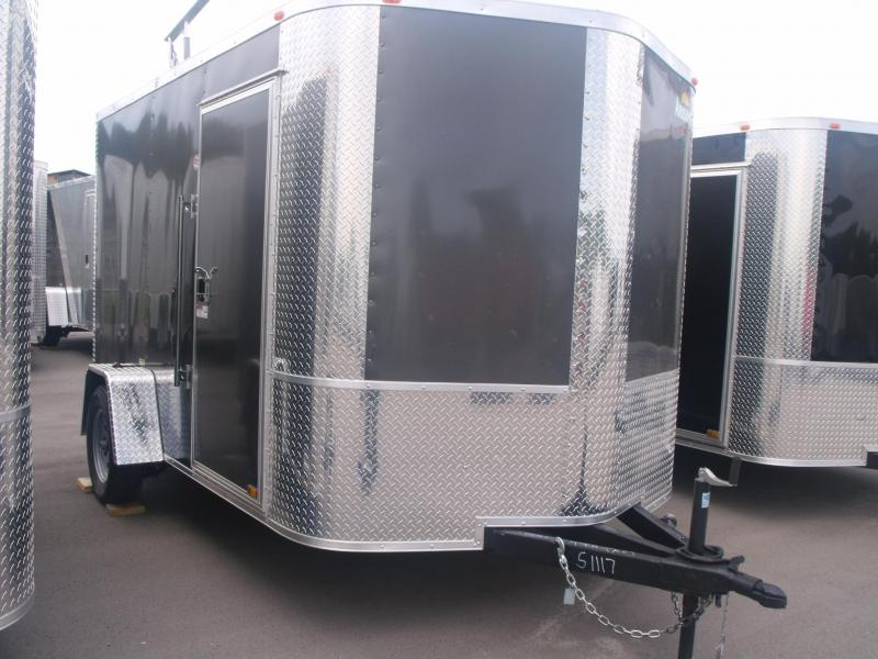 Enclosed Trailer 7 X 10 Ramp  Charcoal Color All Tube Construction