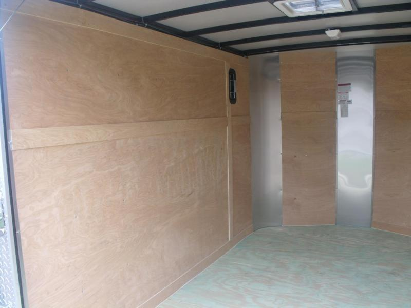 Enclosed Trailer 7 X 10 Ramp Two Tone White/Silver All Tube Construction