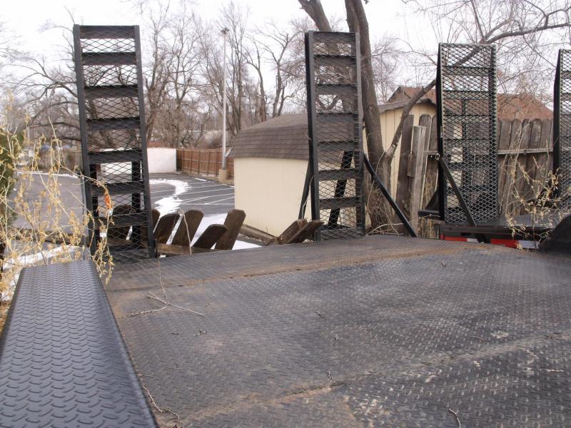 USED TRAILER 83 X 20 Equipment Trailer 14000 GVW Ramps STEEL Deck