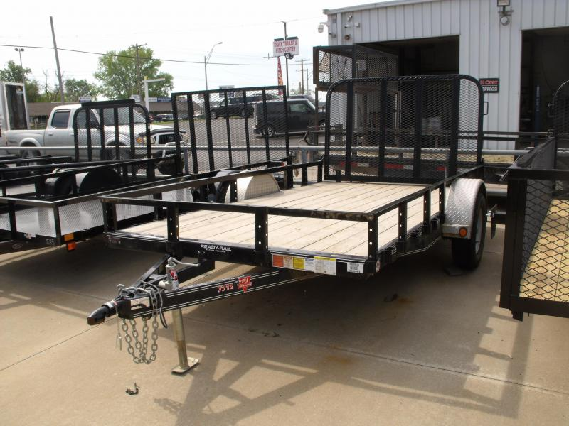 Used Trailer 77 X 12 PJ 2990 Axle Removable Top Rails