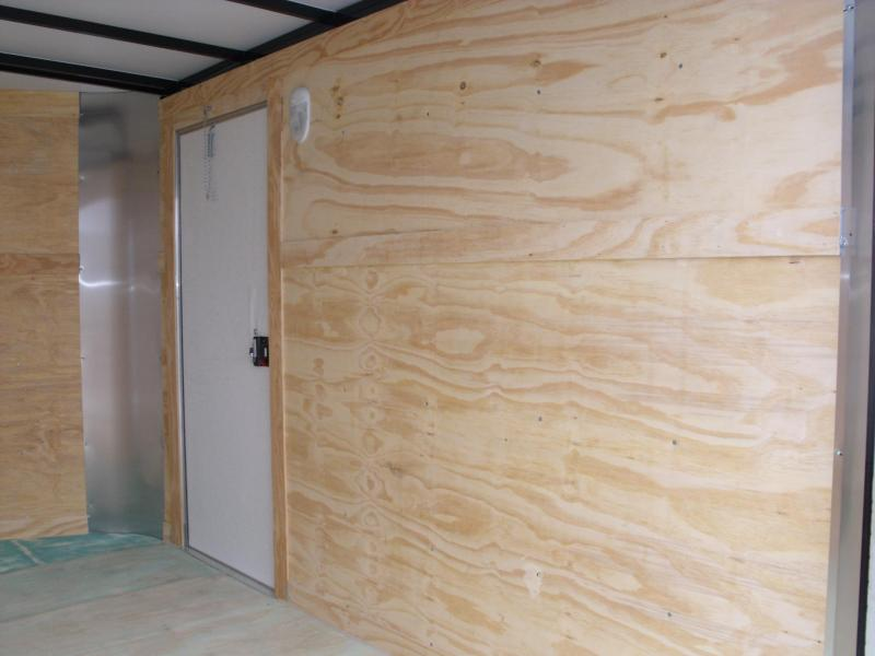 """Enclosed Trailer 6 X 10 Ramp 6' 6"""" Interior Height White In Color"""