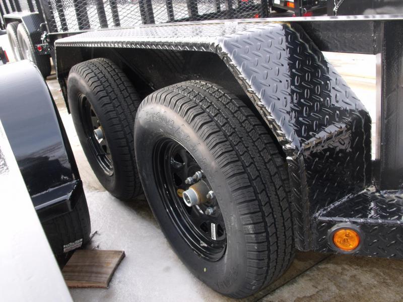 Tandem Axle Premium Trailer 83 X 14 Tube Gate 4 WL Brakes