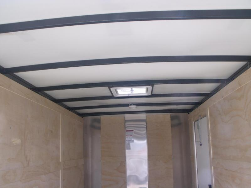 "Enclosed Trailer 6 X 12 Ramp 2 Tone Silver/Black 2990 Axle 6' 6"" Height All Tube Construction"