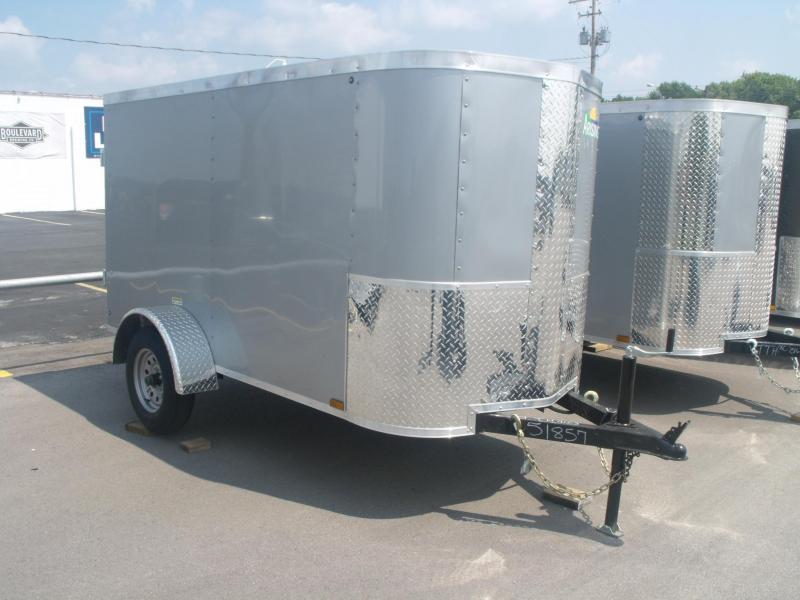 "Enclosed Trailer 4 X 8 Barn Door 4' 6"" Height 2000 LB Axle"