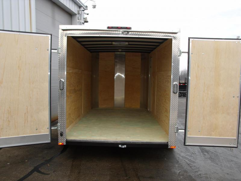 "Enclosed Trailer 7 X 14 ((BARN DOOR)) 6' 6"" Interior ALL TUBE Construction Color White"