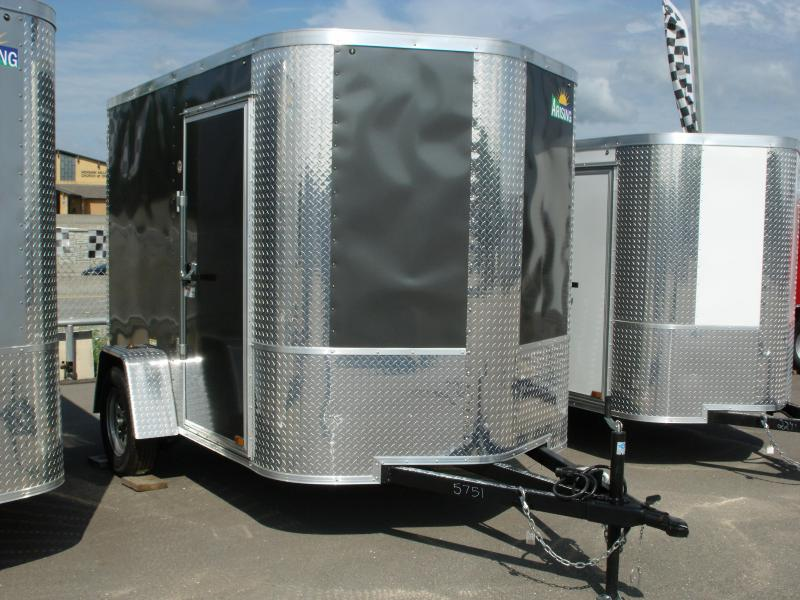"""Enclosed Trailer 6 X 8 Ramp ALL Tubular Construction 6' 3"""" Interior Height  Charcoal In Color in Ashburn, VA"""