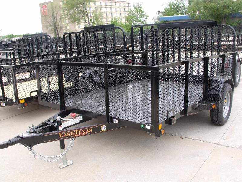 "Hi Wall Utility Trailer 83 X 10 All Steel  24"" High Mesh Sides 2990 Axle Spring Assisted Tube Gate in Ashburn, VA"