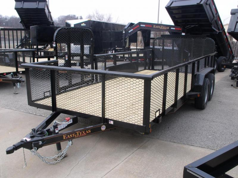 Hi Wall Landscape Trailer 83 X 18 Side Load Rear Load