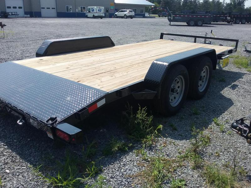 2018 Sure-Trac 7 X 16 Wood Deck Car Hauler 7k