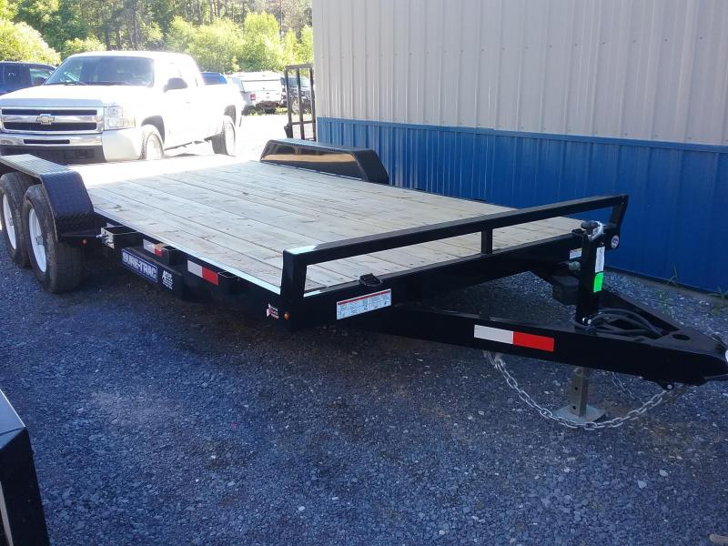 2018 Sure-Trac 7 X 18 Wood Deck Car Hauler 10k