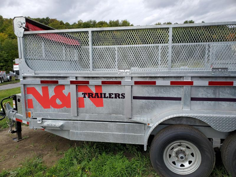 2018 N&N Trailers 7X14 Galvanized 14K LB GVW Dump Trailer