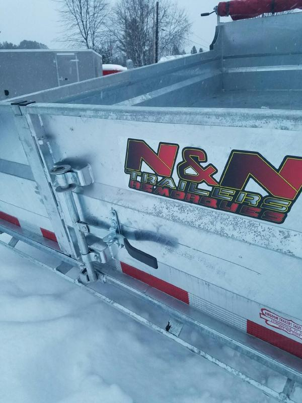 2019 N&N Trailers 6x10 Galvanized 7K LB GVW Dump Trailer