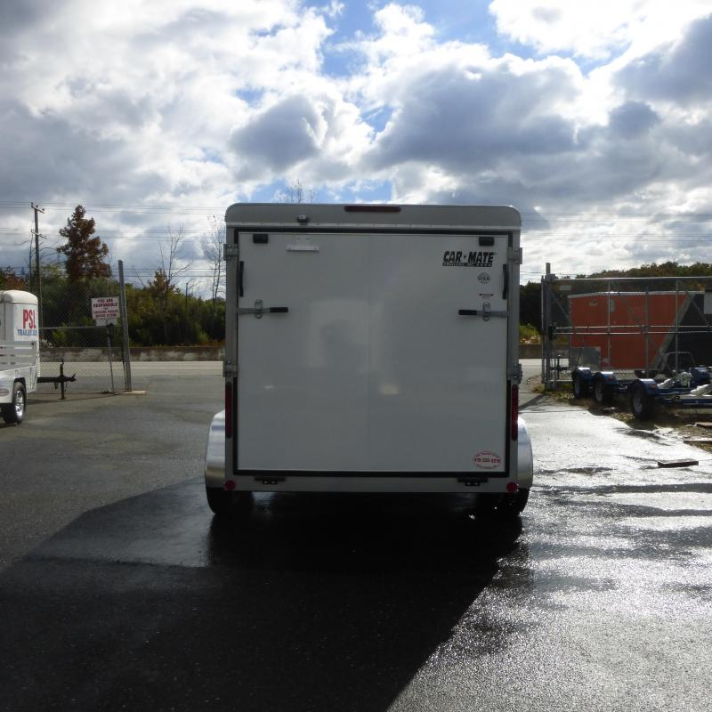 Car Mate 7' x 12' Enclosed Cargo Trailer with Ramp