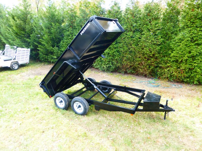 Premier 6' x 12' Dump Trailer w/Barn Doors & D-Rings & Ramps