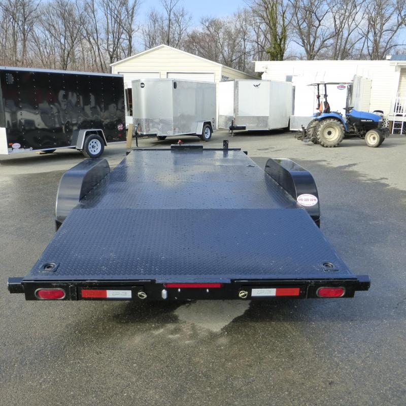 Quality Trailers 7' x 18' Solid Deck Car Hauler w/ Winch Plate and Battery Box