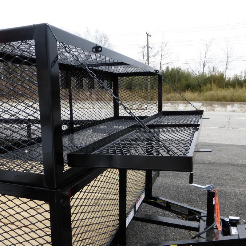 Big Tex 7' x 16' Tandem Axle Landscape Trailer w/ Mesh Sides & Box