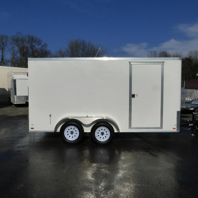 Covered Wagon Trailers 7' x 14' Enclosed Cargo Trailer w/Cargo Doors