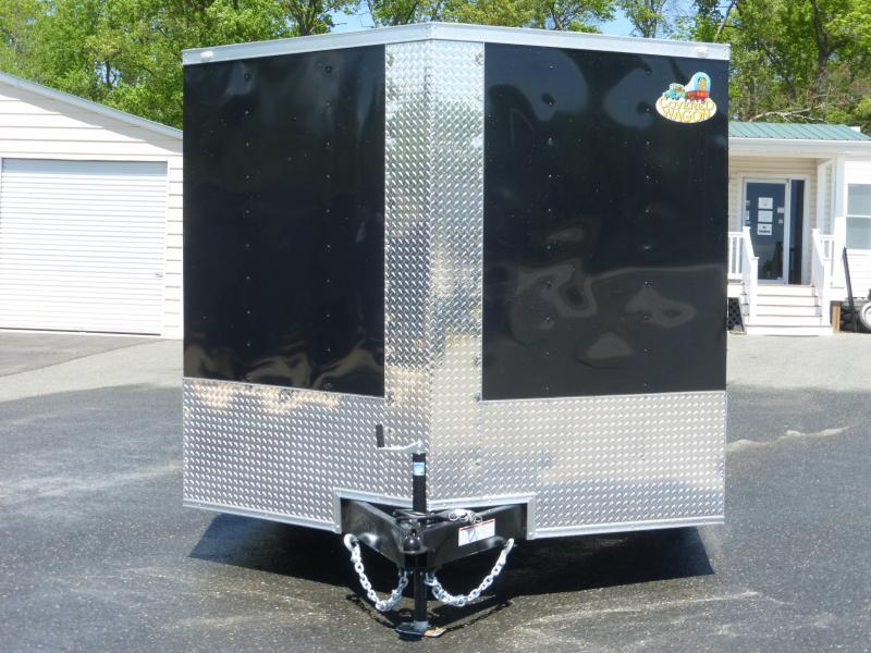 Covered Wagon 8.5' x 16' Black Enclosed Car Hauler