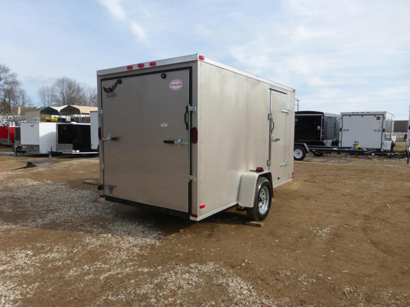 Lark 6' x 12' Beige Enclosed Trailer w/ Ramp