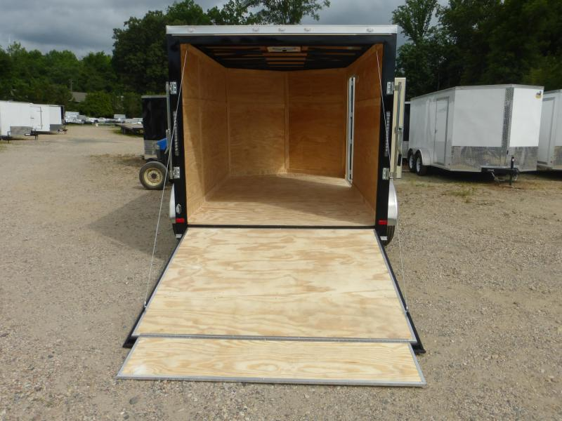Covered Wagon 7' x 12' Black Enclosed Cargo Trailer with Ramp