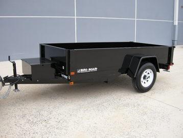 "Bri-Mar 5' x 8' x 15"" Single Axle Dump Trailer"
