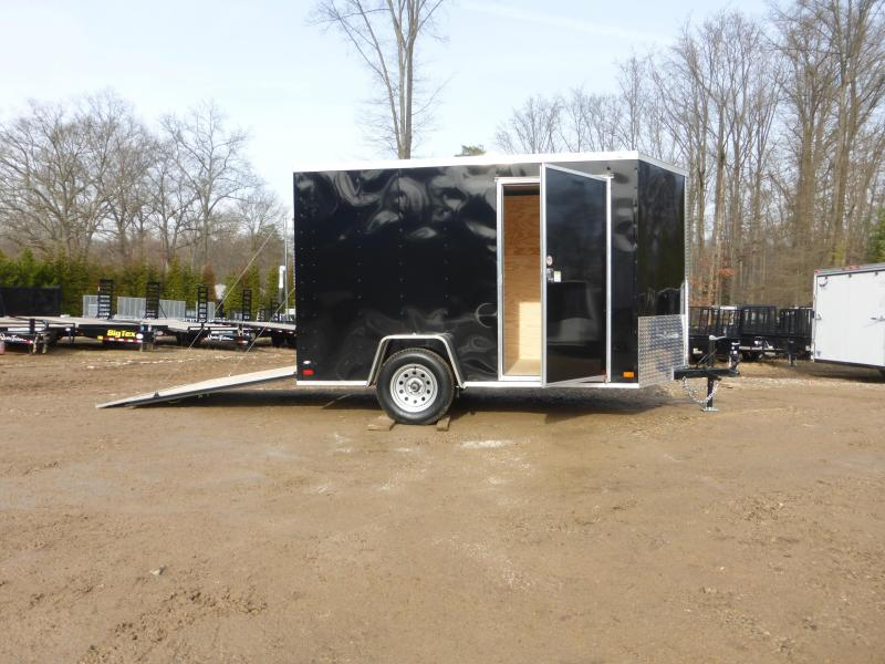 Covered Wagon Black 6' X 10' V-Nose Enclosed Cargo Trailer w/Ramp