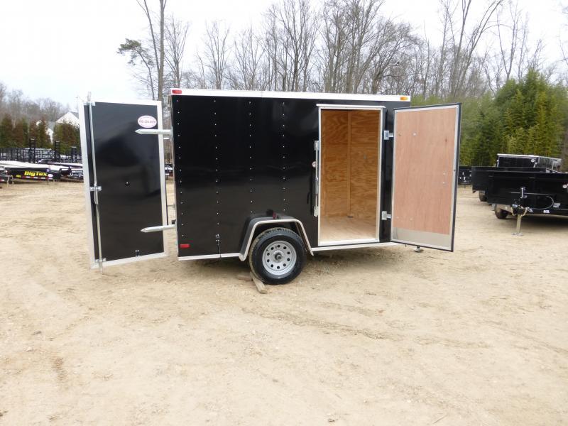 Lark 6' x 10' Black V-Nose Enclosed Trailer w/ Cargo Doors