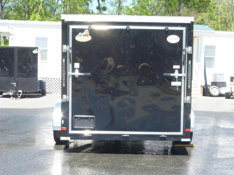 Covered Wagon 7' x 14' Black Enclosed Cargo Trailer