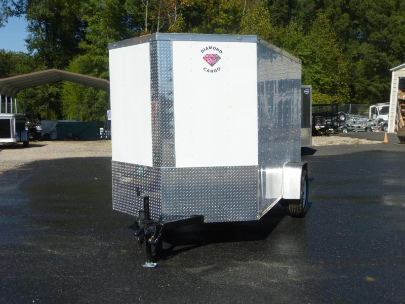 Diamond Cargo 5' x 10' V-Nose Enclosed Trailer w/ Ramp and Side Door
