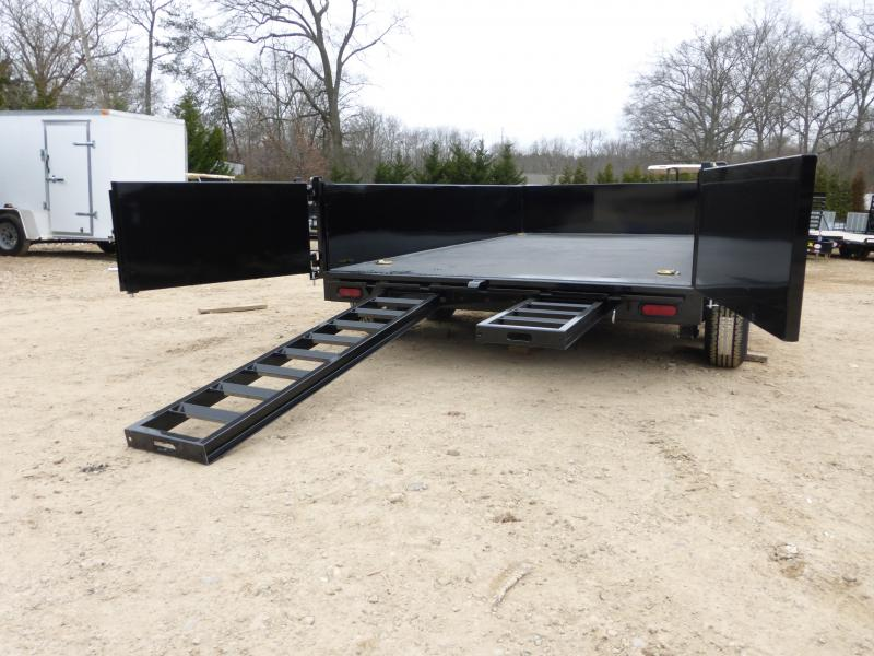 Bri-Mar 7' x 12' TA Heavy Duty Dump Trailer