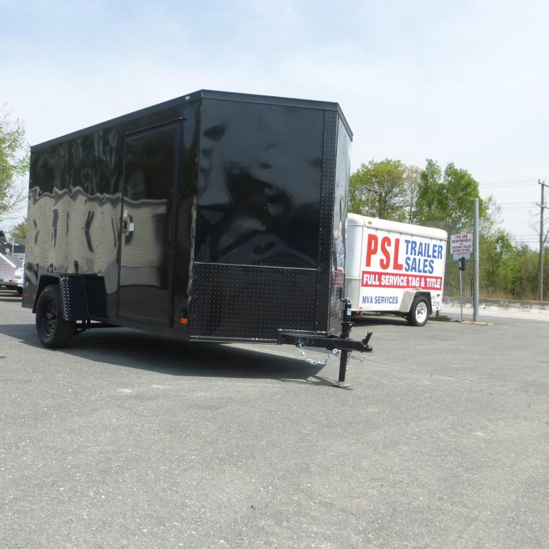 Diamond Cargo 6' x 12' Black Enclosed Cargo Trailer with Ramp & Blackout Package