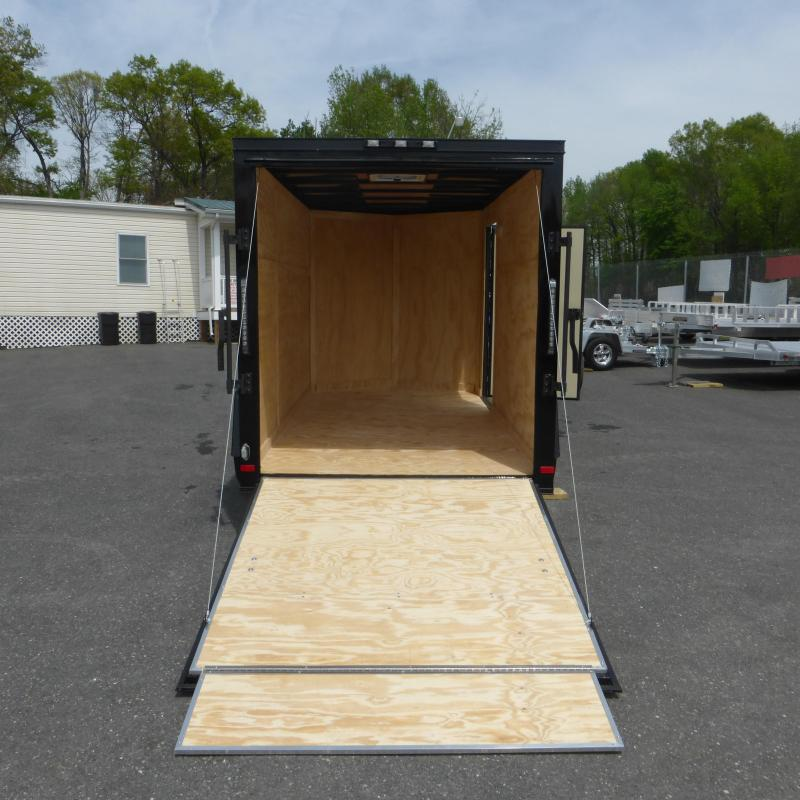 Covered Wagon 6' x 12' Black Enclosed Cargo Trailer with Ramp & Blackout Package