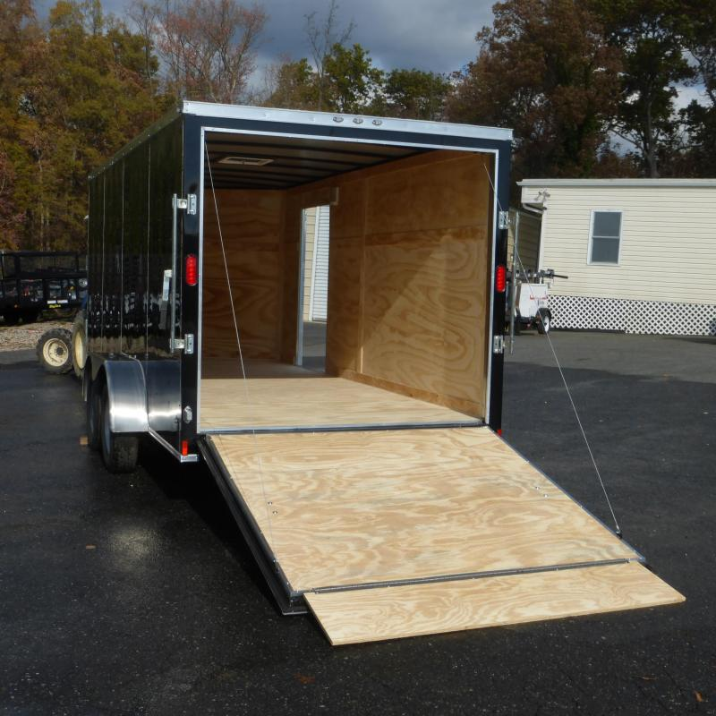 Diamond Cargo 7X14TA Black Enclosed Cargo Trailer with Ramp