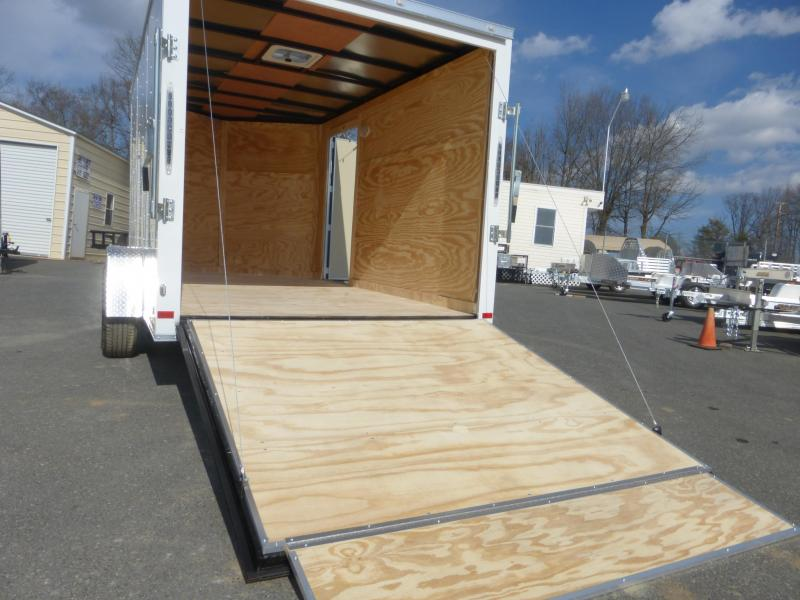 Covered Wagon 7' x 12' V-Nose Enclosed Trailer w/ Ramp & Heavier Braking Axle