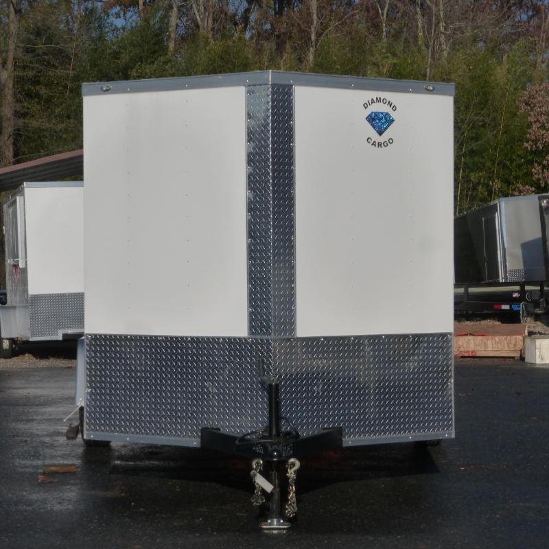 Diamond Cargo 7' x 12' V-Nose Enclosed Trailer w/ Ramp & Heavier Braking Axle