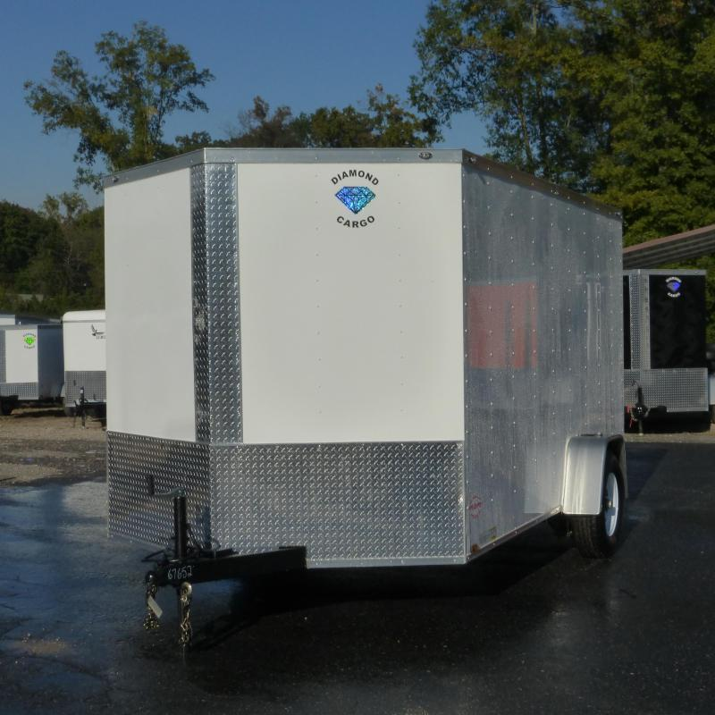 Diamond Cargo 7' x 12' V-Nose Enclosed Trailer w/ Ramp & Heavier Braking Axle