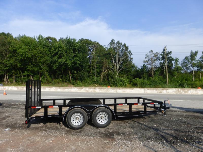 Quality 7' x 16' 8K Tandem Axle Landscape Trailer w/ 2' Dovetail